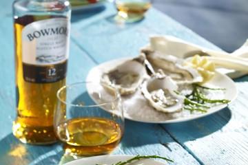 Auch Bowmore lässt sich gut mit maritimen Essen kombinieren...