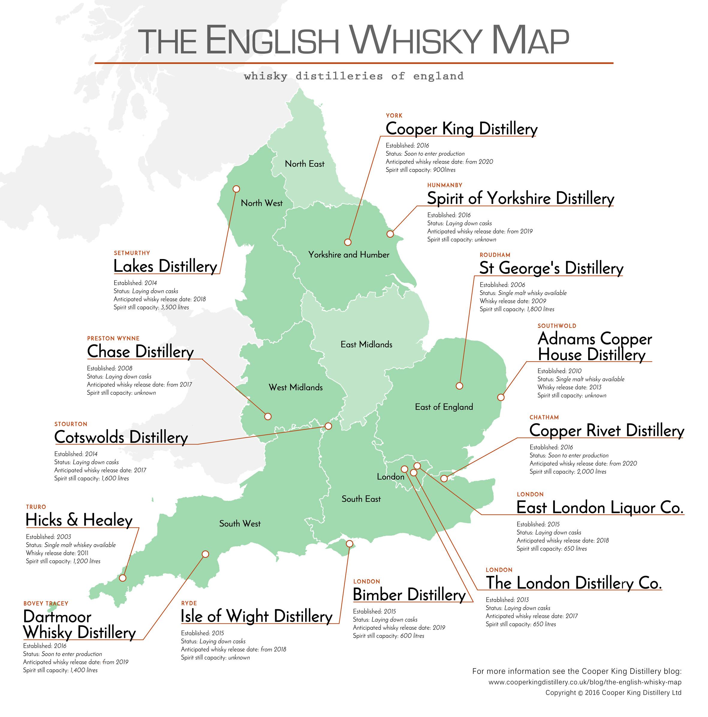 Schottland Karte Whisky.Whisky Im Bild Karte Der Englischen Whiskydestillerien Whiskyexperts